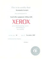 Xerox Training 2005